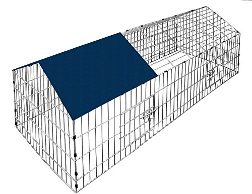 Deuba Recinto da esterno per piccoli animali | gabbia da esterno | senza fondo | 2 porte frontali |...