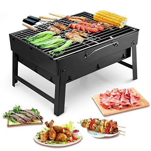 Uten Barbecue Carbone Portatile, Barbecue Pieghevole per BBQ all'aperto Giardino Terrazza Campeggio...