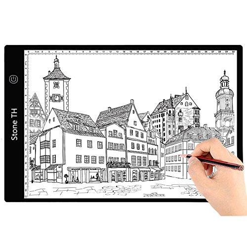 A4 LED Tavolette Disegno, Lightpad Scatola Luminosa LED con USB per Disegni, Animazione, Stencil...