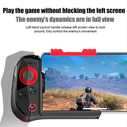 FidgetKute for Android iOS Game Controller PG-9121 Wireless Bluetooth for Tablet PC TV Box One-Handed Smartphone Android Game Joystick