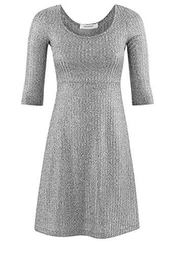 Promod Kleid aus silbernem Rippstrick