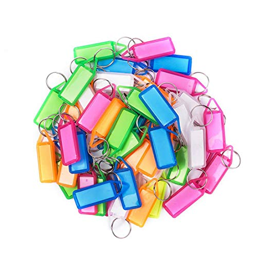 Stealodeal Assorted Color Key and Tag Label Keychain, Pack of 25