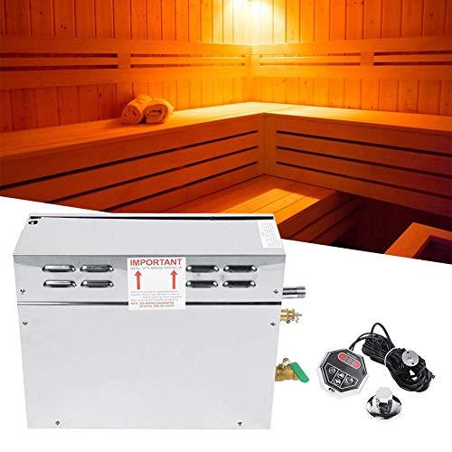 Pangding Generador de Vapor para Sauna, productor de Vapor eléctrico de Acero Inoxidable TC-135 Controlador de visualización de Temperatura Digital para el hogar SPA Hotel Duchas(Blanco)