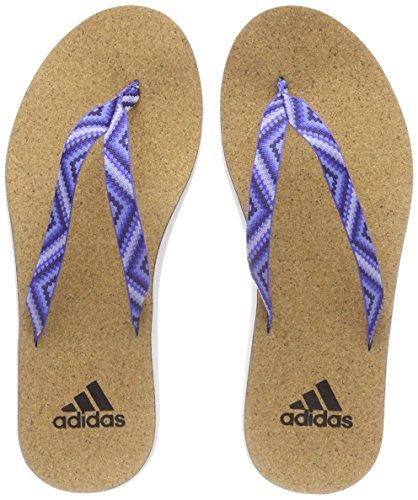 adidas Eezay Cork Flip Flo, Scarpe da Spiaggia e Piscina Donna, Bianco (Ftwwht/Nobink/Ashblu), 40...