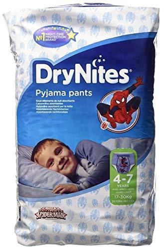 Huggies - DryNites, mutandine di Spiderman, taglia: 4-7anni, 30per confezione