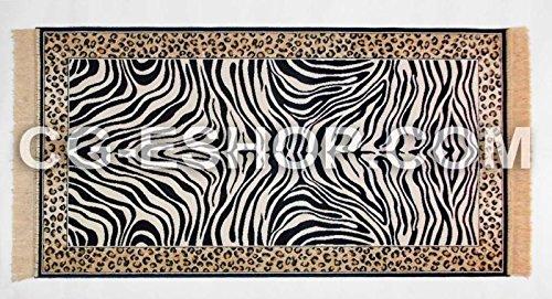 Confezioni Giuliana Tappeto Zebra zebrato Camera Salotto Soggiorno Ingresso 70x110 Blu