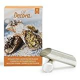 DECORA Confezione Cannoli Siciliani, Alluminio, Argento, 6 Pezzi