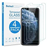 """Beikell [4 Pezzi] Pellicola Protettiva in Vetro Temperato Compatibile con iPhone 11 Pro Max/XS Max 6.5"""" - Durezza 9H, Anti graffio, Senza Bolle, Alta Definizione, Facile da Pulire"""