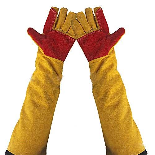 Guanti di saldatura in pelle 60cm extra lungo, maniche cut-proof Labor guanti resistente al...