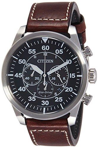 Citizen Orologio Cronografo Quarzo Uomo con Cinturino in Pelle CA4210-16E