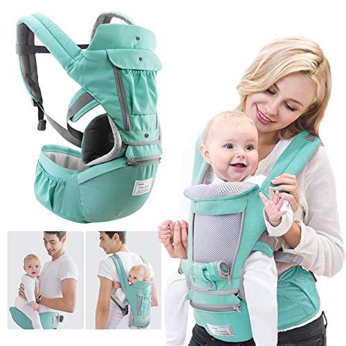 360 Porte-bébé nouveau-né à bambin 4 en 1 souple tout transporter avec le siège sur la hanche...