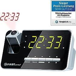 Kaufen TZS First Austria - Radiowecker mit Projektor, Projektionswecker, Display abschaltbar dimmbar, Flexible Tageswahl, Snooze-Funktion, 2 Weckalarme, Radio automatischer Abschaltung Quarzstabilisator