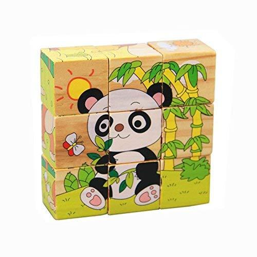 OFKPO 3D Puzzle in Cubo di Legno con Animali