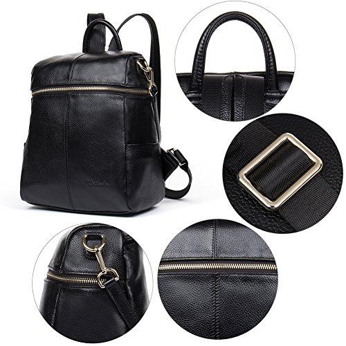 555b6ace4fb BOSTANTEN Women Genuine Leather Backpack Rucksack Ladies Casual Daypacks  Shoulder Bag Purse School Satchel for College