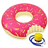 """ONEDONE Schwimmring Aufblasbare Riese Schwimmreifen Donut-Form 120cm(48"""") für Party mit Inflator"""