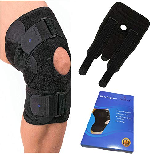 Noova Knee Caps for Women and Men -Neoprene Knee Support for Knee Pain Relief, Adjustable Knee Brace for Gym, Running, Sports,Knee Wraps for Daily Use - Free Size- 1 Piece (Black)