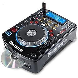 Numark NDX500 - Controlador DJ y reproductor MP3, CD autónomo con platos sensibles al tacto y software para DJ
