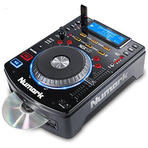 Numark NDX500 - Lettore CD/USB Indipendente e Controller Software con Jog Wheel Sensibile al Tocco, Interfaccia Audio, Controlli di Pitch e Pre-Mappatura per la Massima Integrazione con Serato DJ