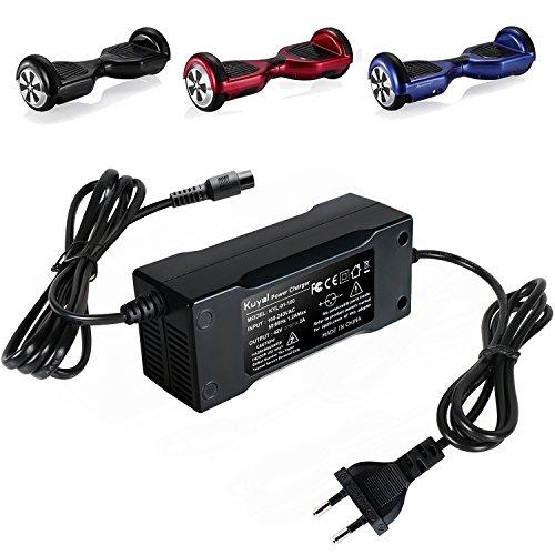 Kuyal 42V 2A Caricatore Universale per Monopattini elettrici autobilanciati, Bilancia Scooter...