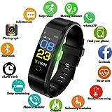 Lige Fitness Trackers,0,96 Zoll OLED Farbdisplay Touchscreen Aktivitäts Tracker mit Pulsmesser Schlafmonitor IP67 Wasserdicht Outdoor Sportarten Smart Armband für iOS & Android Bluetooth Verbindung