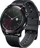 Huawei Watch GT Elegant - Montre Connectée (GPS, Ecran tactile, boitier Inox 42mm) avec Bracelet Noir