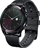 """Huawei Watch GT - Smartwatch con Caja de 42 mm de Metal, Pantalla Táctil AMOLED de 1.2"""", Monitor de Ritmo Cardíaco y Sueño, GPS, Sumergible 50 m, Correa Negra (Edición Elegant)"""