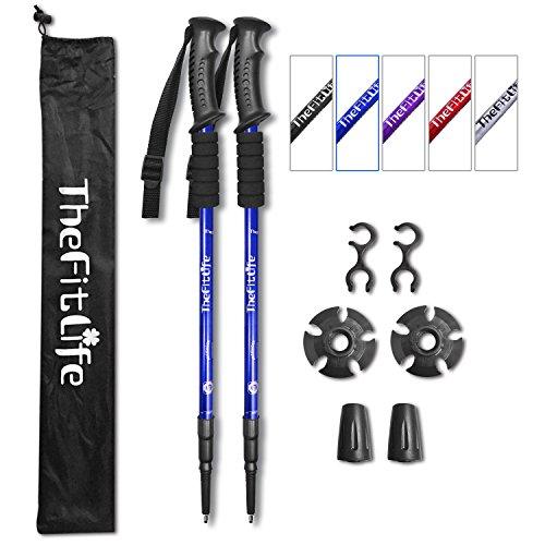 TheFitLife, bastoni da Trekking richiudibili e Antiurto per Camminata nordica, Escursionismo,...