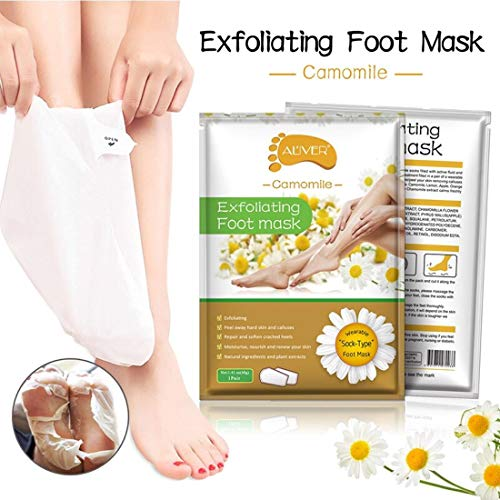 Digital Shoppy 2 pc 1 pair camomile Feet Exfoliating Foot Mask Magic Skin Peeling Dead Skin Feet Mask Socks Sosu Socks For Pedicure Socks Foot Mask(Camomile)