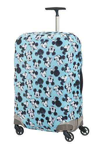 Samsonite Global TA Disney Lycra Cover per Valigia M, 67 cm, Blu (Mickey/Minnie Blue)