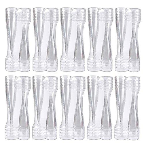 Schramm Confezione da 100 calici flute usa e getta per spumante o champagne, capacità 100ml, in plastica