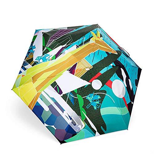 JUNDY Pioggia Ombrello Portatile Compatto Pioggia Ombrello da Viaggio di Alta qualità Ombrello 50%...