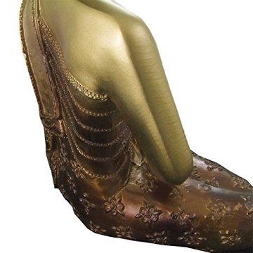 Figura buda iluminado de resina en color dorado y marrón   Tamaño: 29x13x40 cm   Portes gratis 7