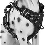 Alimao® Arnés para Perros de Trabajo Pesado, Prevención de tirones, paño de Oxford Material de Rejilla con diseño Especial de Correa Corta integrada - (M)