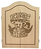 Best Sporting Dart-Kabinett Kings Head Dart-Schrank in Holz-Optik mit Flügeltüren (Kabinett)