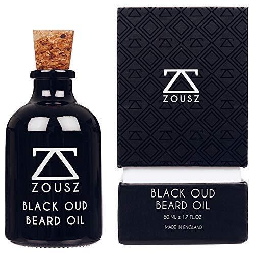 ZOUSZ Beard Oil | Olio Barba | Olio Da Barba Da Uomo 'Black Oud' Profumato | Biologico E Naturale | Idrata La Barba E Ne Promuove La Crescita | Regalo Da Uomo (50 mL)