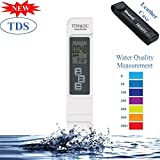 Cartshopper Digital Water TDS EC and Temperature (3 in 1) Meter, Purity Tester, ATC Function, 1ppm Resolution, 0-9990 ppm