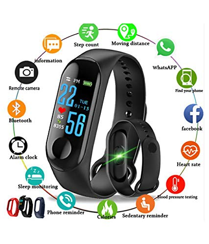 Marvik M3 Smart Fitness Band Activity Tracker with Heart Rate Sensor for Androids and iOS Phone/Tablet