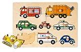 Goki-57996 Puzzles de Madera Medios de Transporte, Encaje, (57996)