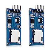 kwmobile 2 Módulos de tarjeta micro SD para Arduino y otros microcontroladores - Módulo lector microSD para circuito Arduino Raspberry Pi