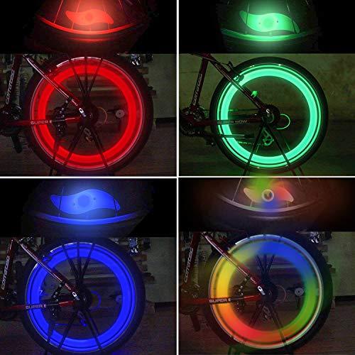 Tagvo 4pz luce del raggio della bici, luci del raggio della ruota per entrambi i bambini Bike per...