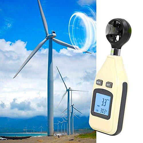 TYZXR Anemometro Digitale, Display a Cristalli liquidi ad Alta precisione con termometro anemometro...