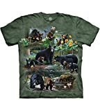 T-Shirt Bear Collage grün | 4XL