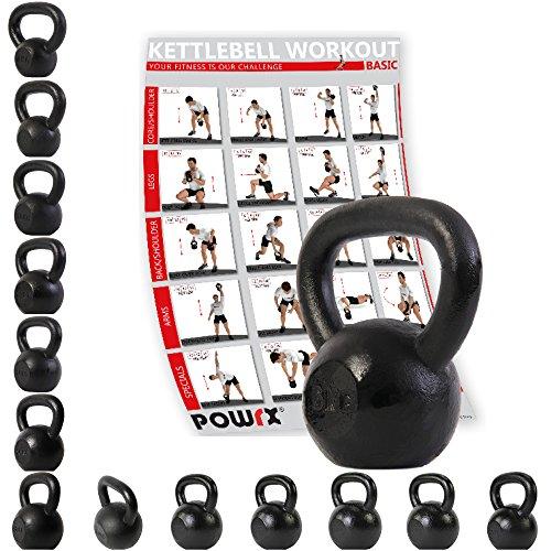 Kettlebell ghisa 4 kg, 6 kg, 8 kg, 10 kg, 12 kg, 14 kg, 16 kg, 18 kg, 20 kg - Ideale per il...