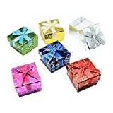 NBEADS 24PCS scatole di cartone, anello, con spugna Insdie, Cube, colore misto, 5x 5x 4cm