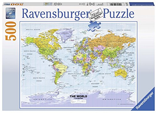Ravensburger 14755 - Puzzle 500 Pezzi, Cartina Politica