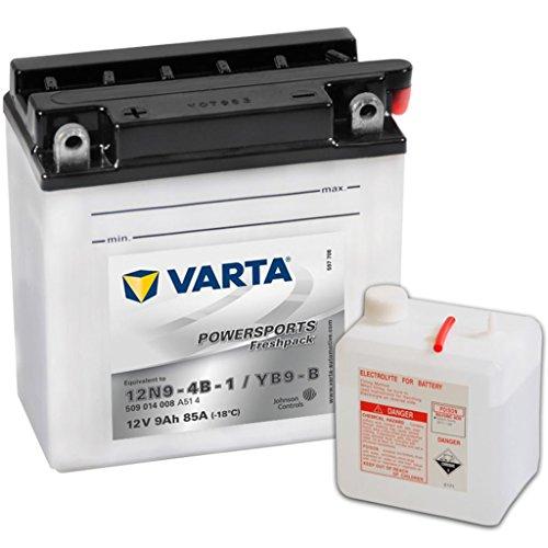 Varta 549640 Powersports Freshpack Batería de Motocicleta, 12V, 9AH, YB9-B