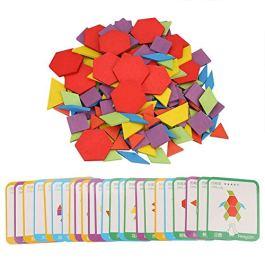 155pcs Legno Sega Puzzle Impostato Colorato Intelligenza Puzzle Tavola Bambini Prescolastico Educati