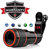 KKPT Mobile Blur Background Telescope Lens Kit with 12X Zoom   DSLR Auto Blur Background Effect for All Mobile Camera (12X Zoom)