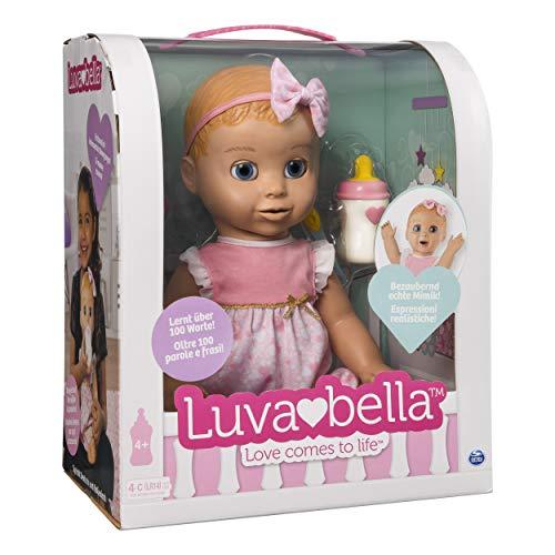 Luvabella- Bambola Interattiva, Versione Italiana/Tedesca, Colore Bionda, 6039298