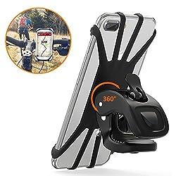 Kaufen STOON Handyhalterung Fahrrad, 360°Rotation Telefonhalter für iPhone X/8/7/6 Plus, Samsung Note 9 & Alle 4,5-6,0 Zoll Handys, Universal Silikon Verstellbarer Handyhalter für Motorrad (Schwarz)